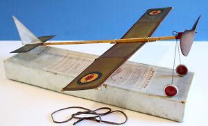 WARNFORD NIPPER FREE FLIGHT VINTAGE RUBBER MODEL AEROMODELLER 1920'S MODEL