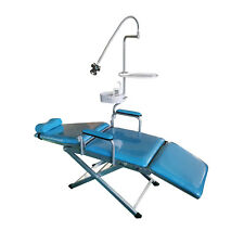 Dental Portable Mobile Chair with LED Light Folding Unit Chair Headrest DHL UK