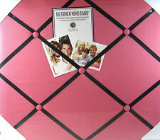 French Memo Board- Display For Photos, Cards, Mementos ,& More  Pink