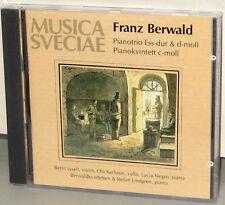 MUSICA SVECIAE CD MSCD 521: FRANZ BERWALD Piano Trios, Quintet - OOP 1989 UK NEW