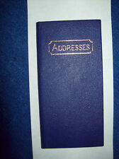 Blue Leather Address Book