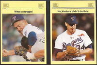 "NOLAN RYAN 1993 STADIUM NEWS QUARTERLY LIMITED EDITON PROMO ""2"" CARD LOT! 1/5000"