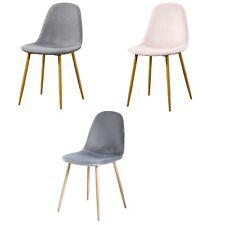 2 Designer Style Dinner/Dining Chairs Modern Kitchen Seat Pair Velvet Fabric