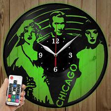 LED Vinyl Clock Chicago LED Wall Art Decor Clock Original Gift 4323