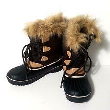 b5f28a8b876 Athletech Explorer Womens Brown Tan Insulated Fur lined Winter Boots Sz 6  (2S16)