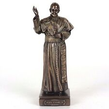 """Pope Francis Detailed Bronze Figurine Miniature Statue 6.25""""H New"""