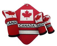 Canada flag thyme golf club head covers & towel (SOLD SEPARATELY) USA MADE!