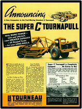 1940 Le Tourneau Equipment New Metal Sign: LeTourneau Super C & Carryall Scraper