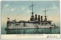 USS Ohio Ship Off San Fransisco Coast California CA Enrique Muller Postcard