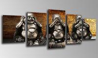 Cuadro Moderno Fotografico base madera, 145 x 62 cm, Buda Buddha, ref. 26133