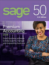 Sage 50 Premium Accounting 2018 U.S. Edition *NON SUBSCRIPTION* (1-User)