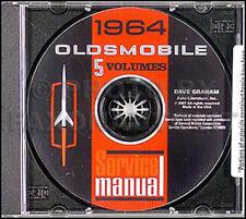 1964 Oldsmobile Shop Manual CD Olds 88 98 442 Cutlass F85 Starfire Jetstar Super