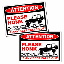 JK Wrangler Beer Fall Out Sticker Warning Vinyl Decal Graphic Jeep Drinking 4x4