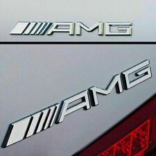 NEW STYLE AMG Boot Badge Emblem Sticker Chrome Silver for Mercedes Brand New
