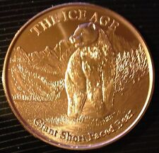 1 OZ COPPER ROUND THE ICE AGE - GIANT SHORT FACED BEAR