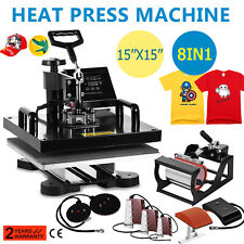 "15""x15"" T-Shirt Heat Press Transfer 8IN1 Combo Machine  Multifunctional Digital"