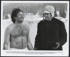 The Survivors '83 WALTER MATTHAU ROBIN WILLIAMS BARECHESTED CHESTHAIR