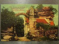 cpa 67 environs de saverne les ruines du haut barr porte d'entree interieure