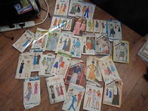 Bundle of 27  Ladies Vintage Sewing Patterns Various