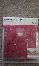 Recollections Christmas 2016 Letters Stickers- Red Glitter Merry Christmas -#732