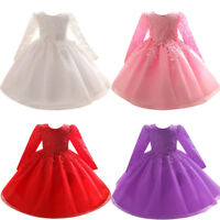 Flower Baby Girl Princess Bridesmaid Pageant Gown Birthday Party Wedding Dress