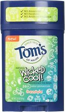 Tom's of Maine Natural WICKED COOL Freestyle Deodorant for Boys 2.25 oz EXP 6/21