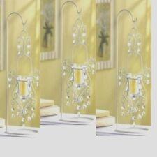 "Lot of 3 Candelabra Chandelier Candle Holder Wedding Centerpiece 16"" Tall"