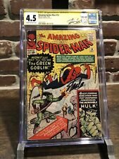 AMAZING SPIDER-MAN #14 CGC 4.5 RARE Signature By STAN LEE. 1ST GREEN GOBLIN
