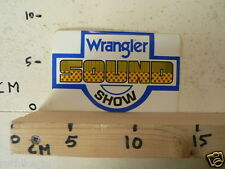 STICKER,DECAL WRANGLER SOUND SHOW MUSIC A