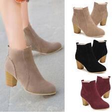 Fashion New Womens Short Boot High Heel Shoes Autumn Winter Ankle Boots