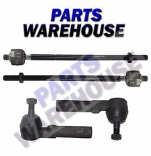 4 Pc Inner & Outer Tie Rod End Kit For Chrysler Voyager Dodge Caravan 10 Yr Wrty