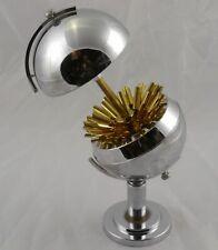 Vintage Art Deco Chrome Globe Pop Up Cigarette Holder Excellent
