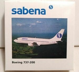 "HERPA WINGS 1:500 SCALE DIECAST "" SABENA AIR BOEING 737-200 "" NO. 505710"