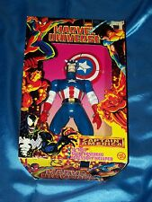 "CAPTAIN AMERICA:MARVEL UNIVERSE, 10"" Fully Posable, TOY BIZ, 1997, NEW IN BOX!"