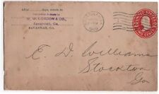 1909 Advertising Cover & Invoice, W. W. GORDON & CO., Savannah, GA