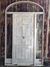 Solid Timber Entrance Door With Arch Frame And Lead Light 1550w X 2570h RBC
