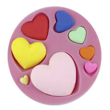 Heart Small 8 Sizes Silicone Mold for Fondant, Gum Paste & Chocolate - NEW
