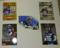 Saquon Barkley 5 card Rookie Lot: New York Giants 2018 Rookie of the Year