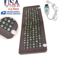 【USA SHIP】Jade Tourmaline Heat Healing Therapy Mat FIR InfraRed Pad Health Care