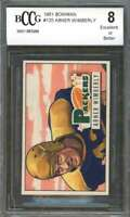 Abner Wimberly Rookie Card 1951 Bowman #125 Packers (Ex Or Better) BGS BCCG 8