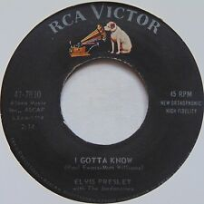 ELVIS PRESLEY: I Gotta Know / Are You Lonesome? RCA VICTOR 45 VG+ CLEAN hear