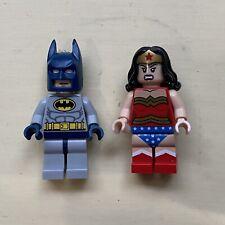 Lego DC Super Heroes Wonder Woman Blue Batman Minifigure Keychain