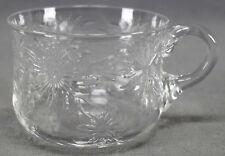 Set of 6 Thomas Webb British Intaglio Cut Floral Rock Crystal Punch Cups C 1900
