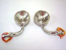 1930 1931 Ford Model A Cowl Lamps Lights with Turn Signals 12 Volt Stainless