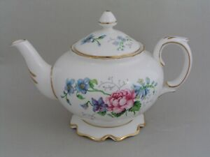 CROWN STAFFORDSHIRE ENGLANDS GLORY TEAPOT.