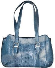 Nina Raye Handbag Dual Sectioned Blue Sea Snake