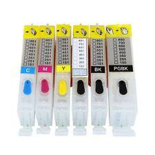 6 EMPTY Refillable ink cartridge for canon MG6320 MG7120 PGI-250 CLI-251 ARC
