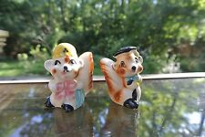 Vintage Japanese Squirrels Salt & Pepper Shakers