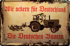 Ackern per Germania Segno Metallo Piastra Metallica lamiera Targa 20x 30 cm