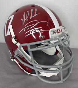 Nick Saban & Tua Tagovailoa SIGNED Alabama Authentic Full Size Helmet w Fanatics
